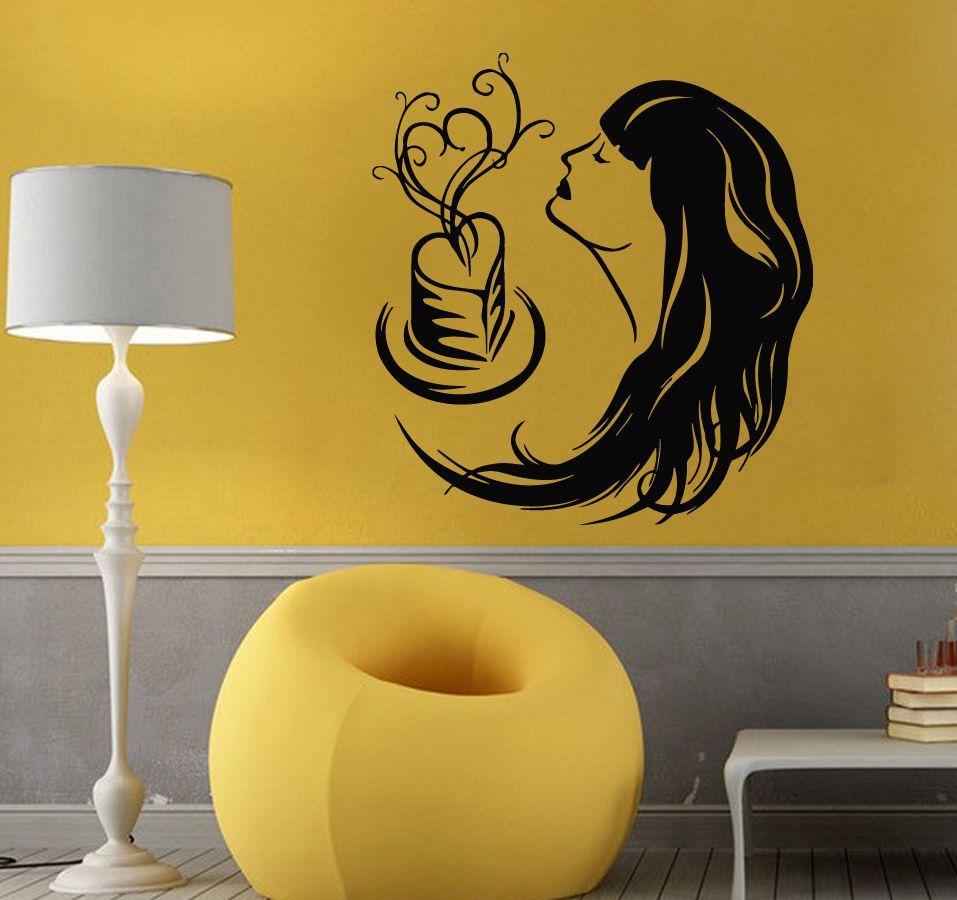 Wall Decals Vinyl Decal Sticker Art Mural Love Decor Girl Smelling ...