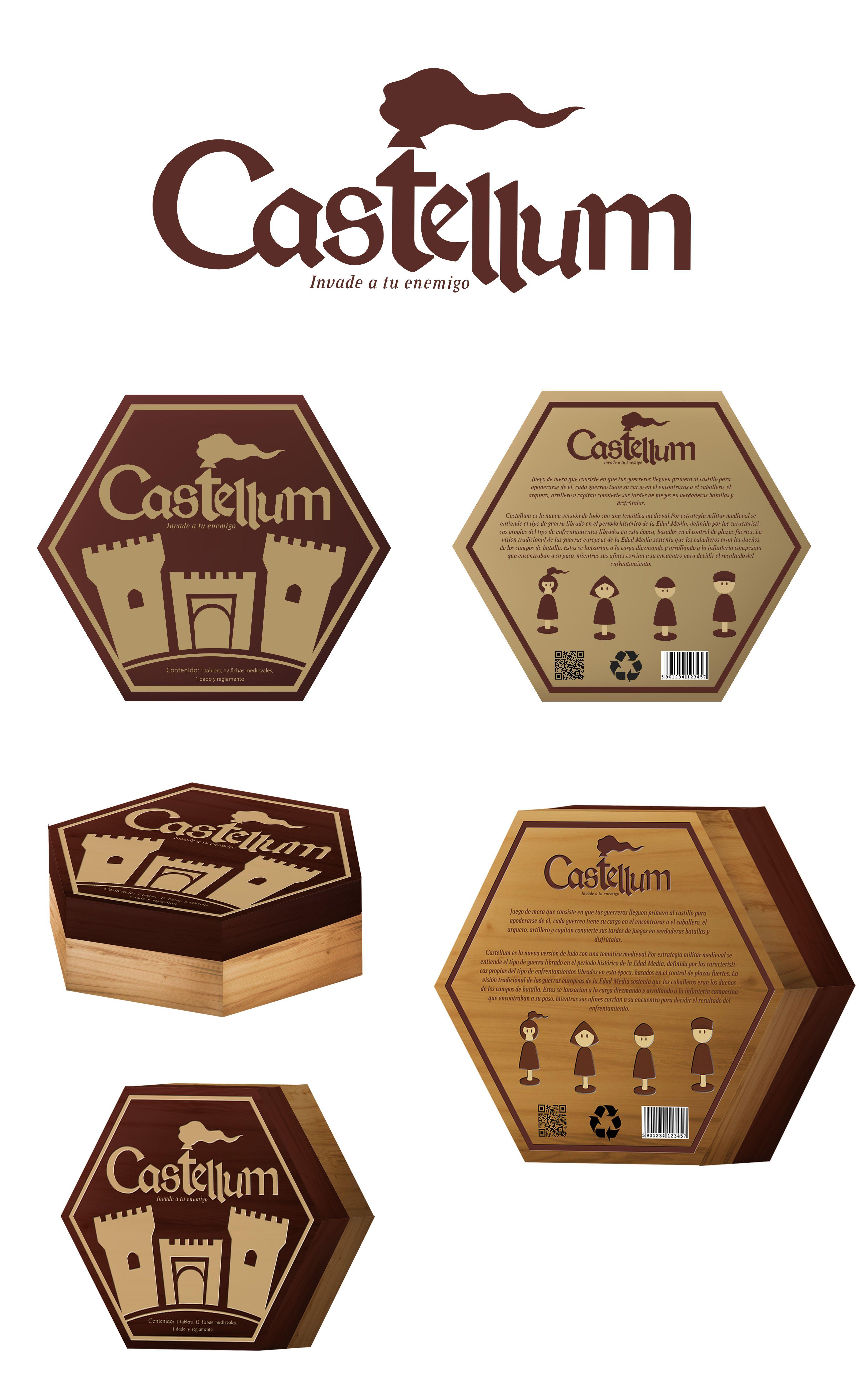 Packaging de madera para el juego castellum