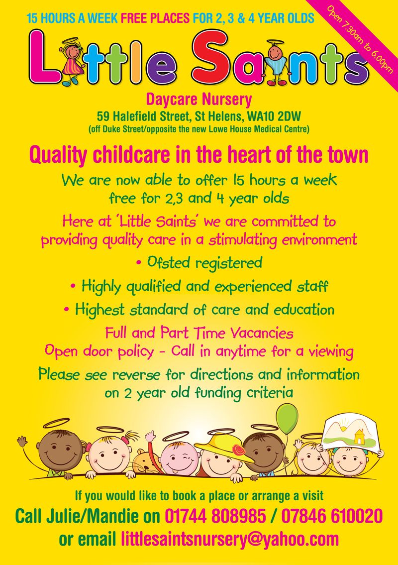 childcare leaflet design for little saints daycare nursery by childcare leaflet design for little saints daycare nursery by flyer designers co