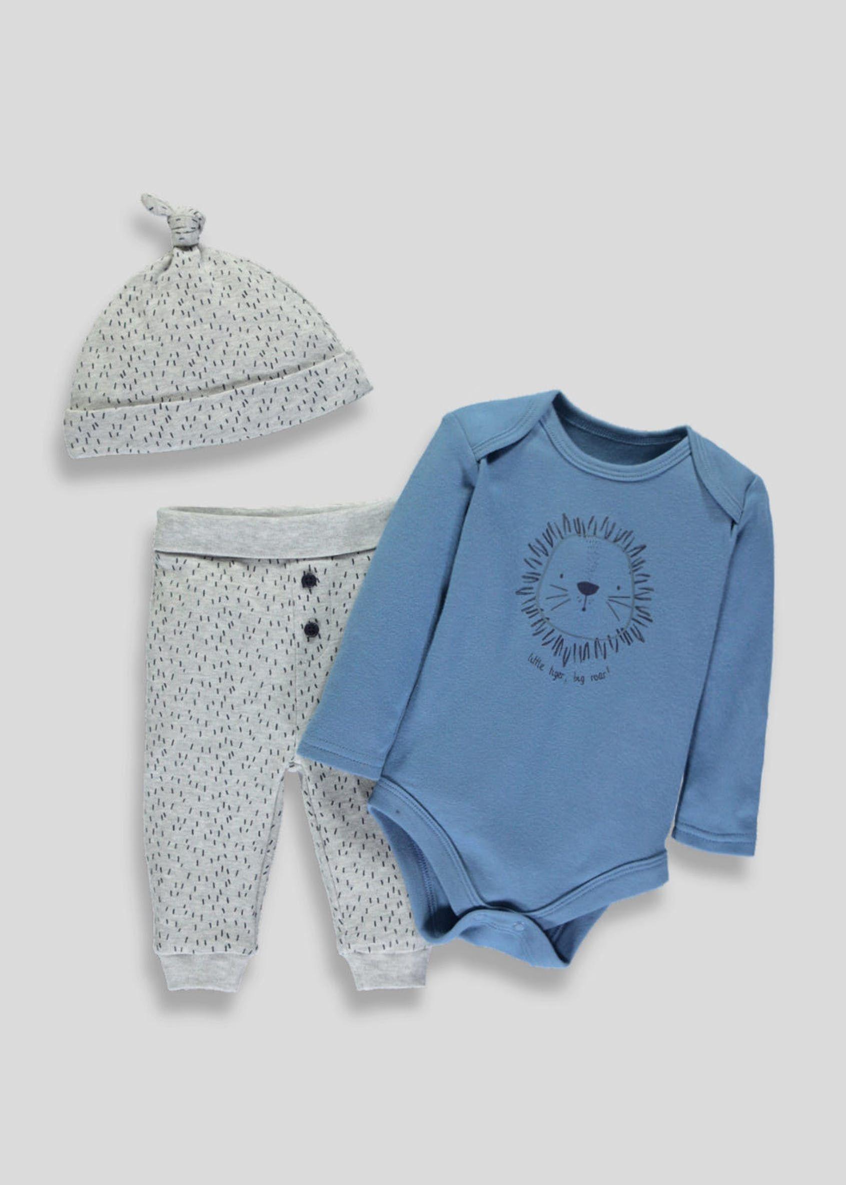 6be9bc85f51f6 Unisex Lion Bodysuit, Leggings & Heat Set (Tiny Baby-9mths) – Navy ...