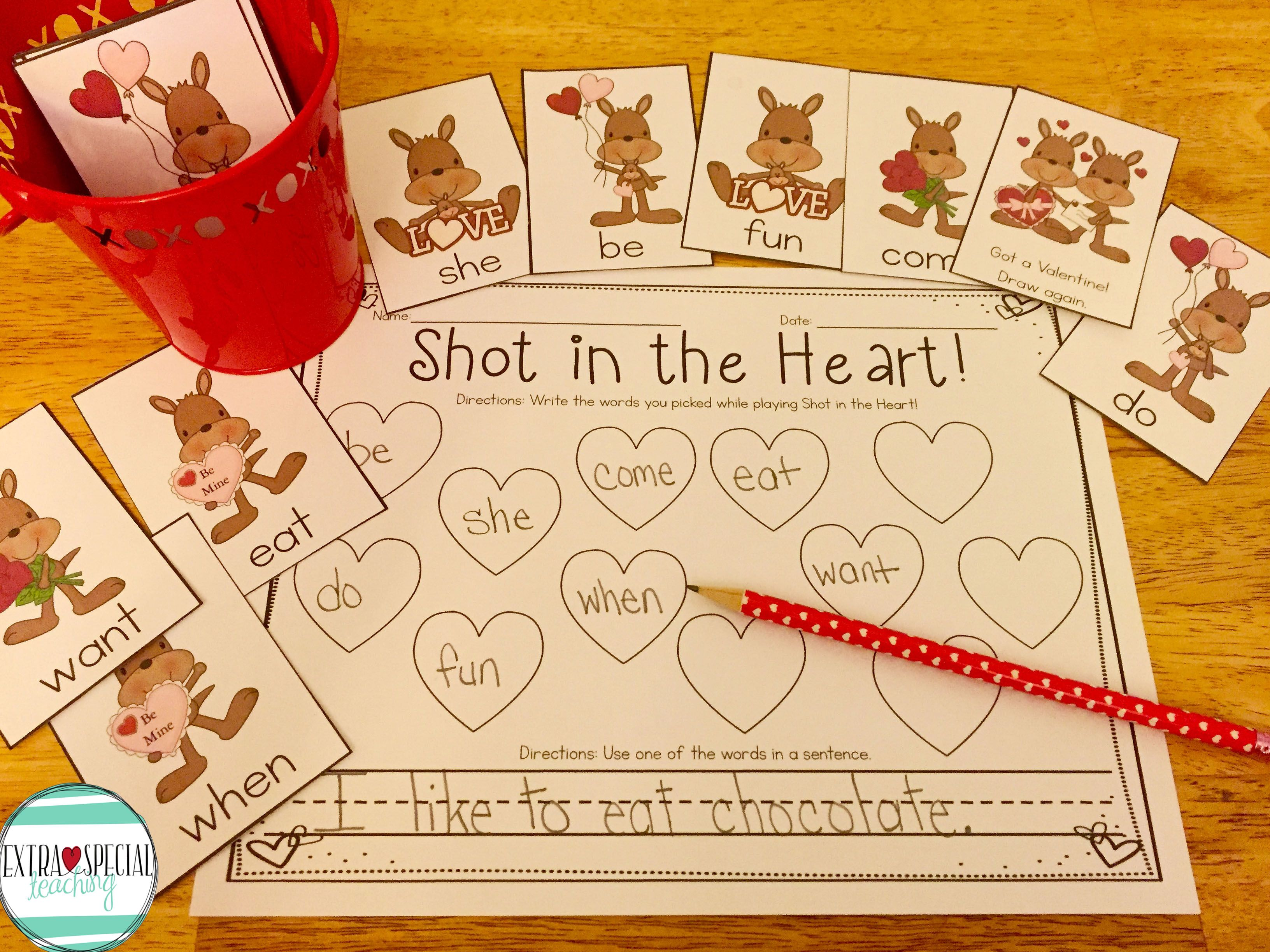 Valentine Sight Word Game