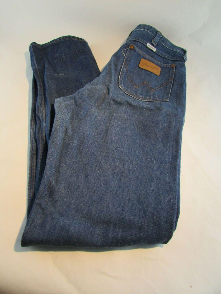 af7b714675cb Vintage 70s 80s Men's Wrangler No Fault Jeans 34 x 36 910 Den Made USA  White Tag #Wrangler