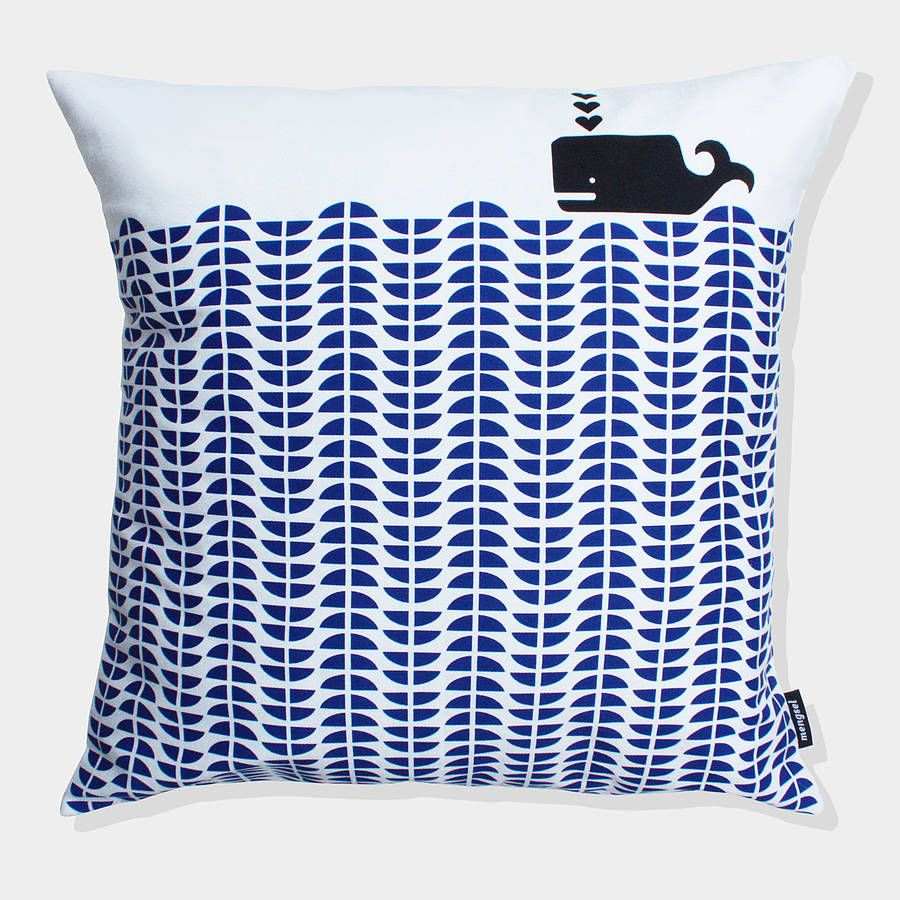 Whale cushion cover by mengsel notonthehighstreet room