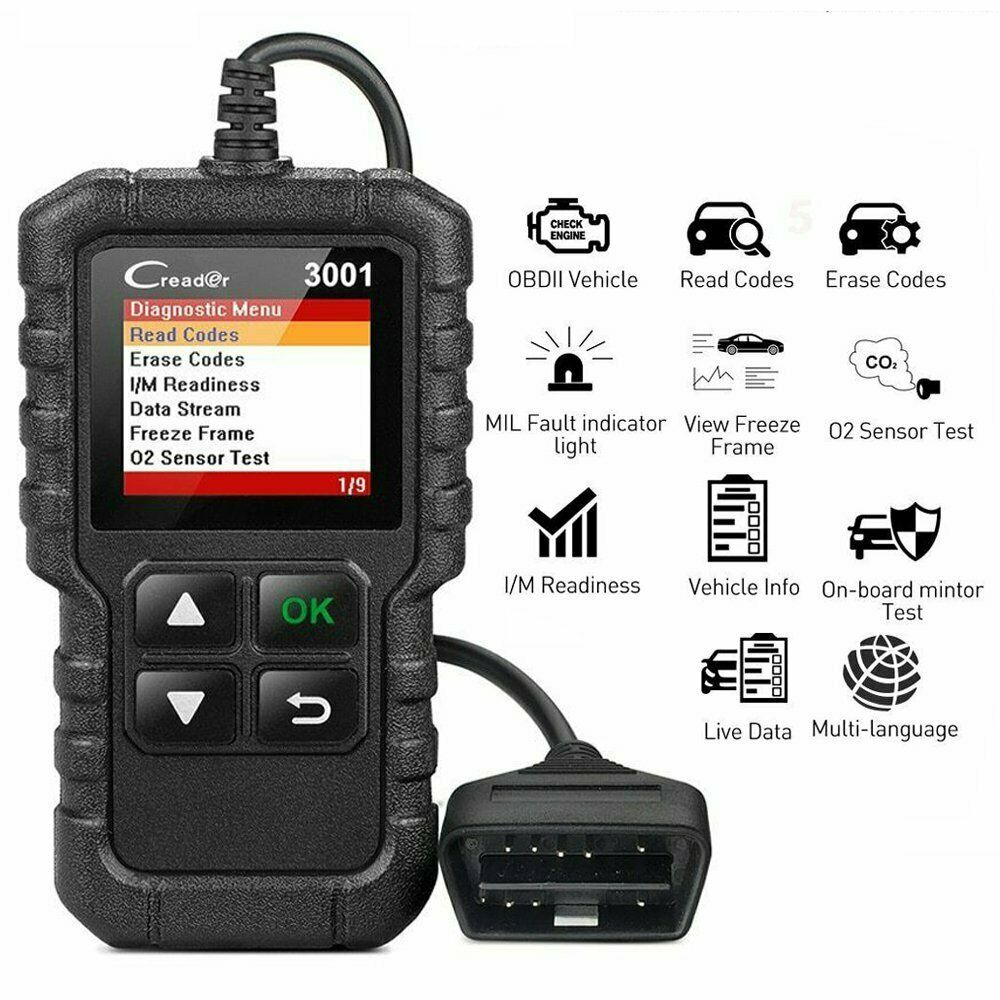 Useful Auto OBD2 EOBD Scanner Car Code Reader Fault Diagnostic Tool