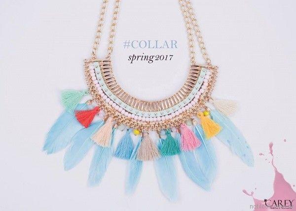 7de1eb5fbbea maxi collar de moda primavera verano 2018 - Carey