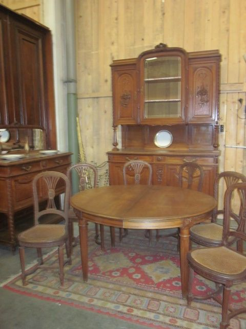 Nice Diningroom Louis 16 Buffet Server Table And Chairs