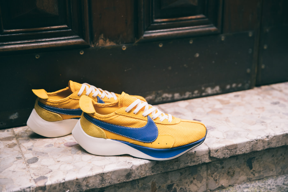 Nike Moon Racer Qs Mountain Blue Team Orange Midnight Navy Yellow Ochre Gym Blue Sail Sneakers Sneaker Stores Nice Shoes