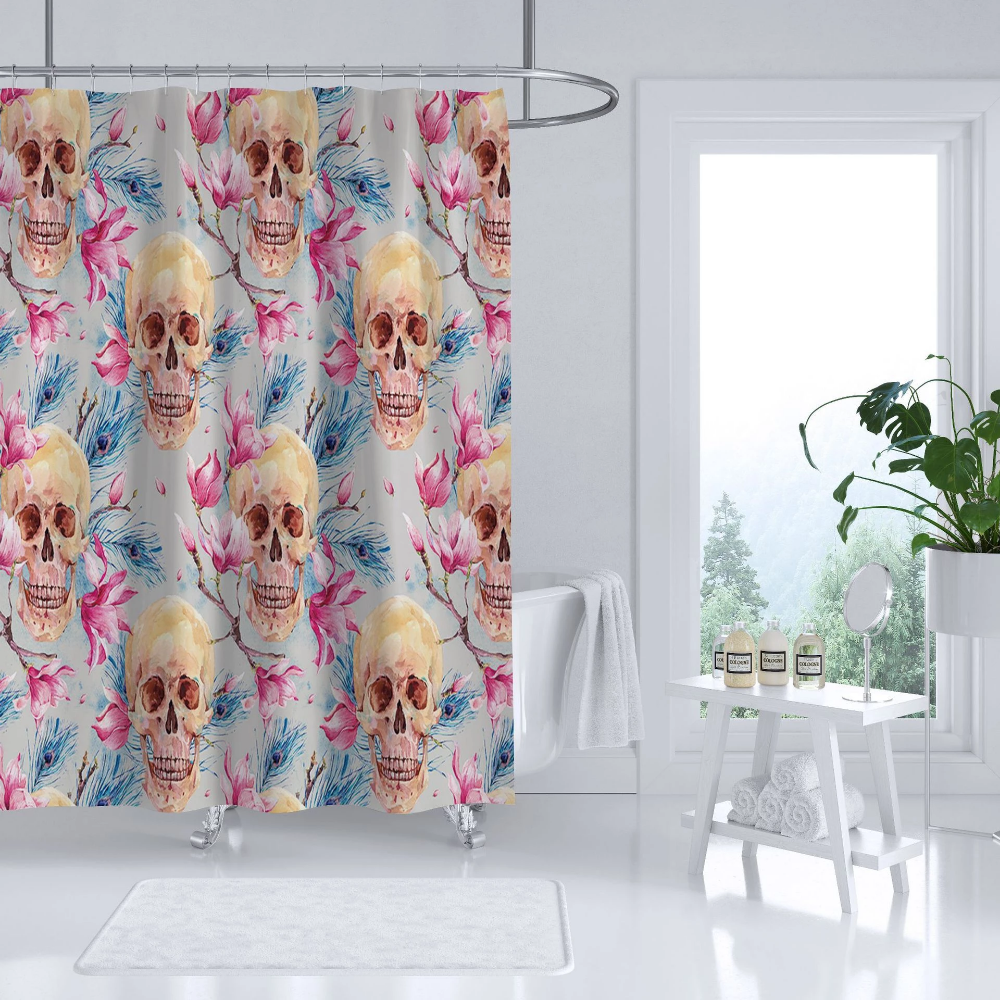 Painted Skull Shower Curtains Stuff Shop With Images
