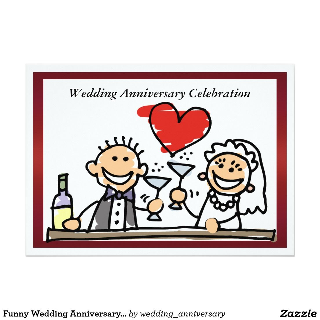 Funny Wedding Anniversary Invitation 5\