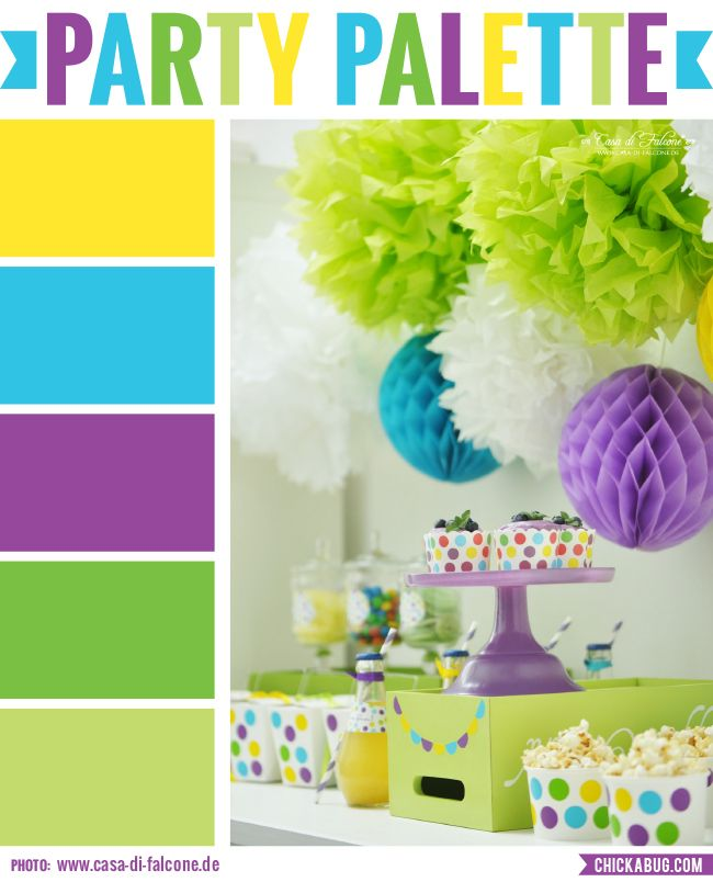 party palette: bright and colorful party table | color inspiration
