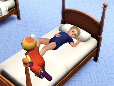 Best Toddler S Poster Bed By Quizicalgin Sims 4 Toddler Sims 400 x 300
