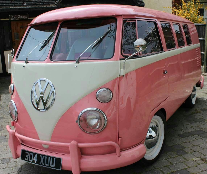 Pink Volkswagon Cars Motorcycles Pinterest Vw Volkswagen And Vw Bus
