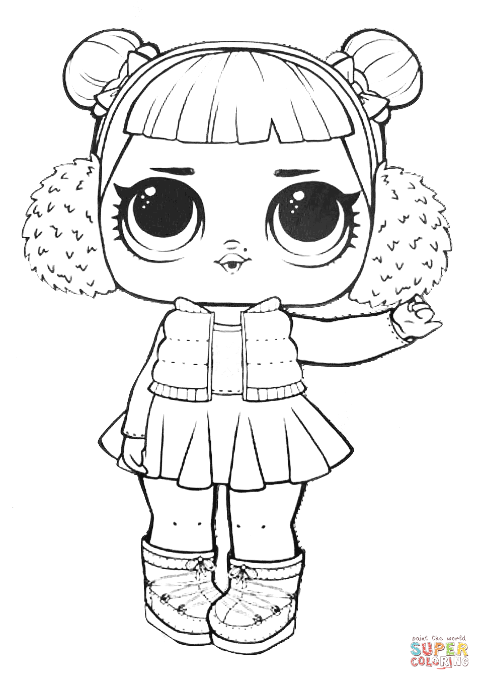 Lol Surprise Doll Snow Angel Coloring Page Free Printable Coloring Pages Colorear Pokemon Paginas Para Colorear De Animales Imprimir Dibujos Para Colorear