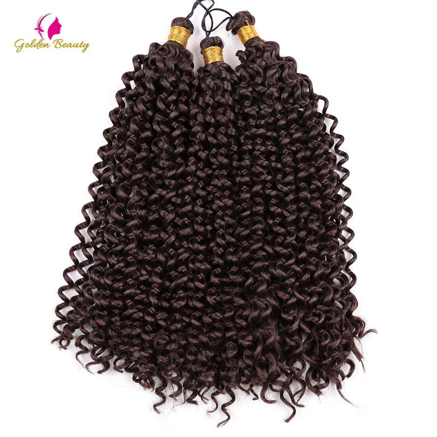 Golden beauty inch curly crochet hair extensions crochet braids