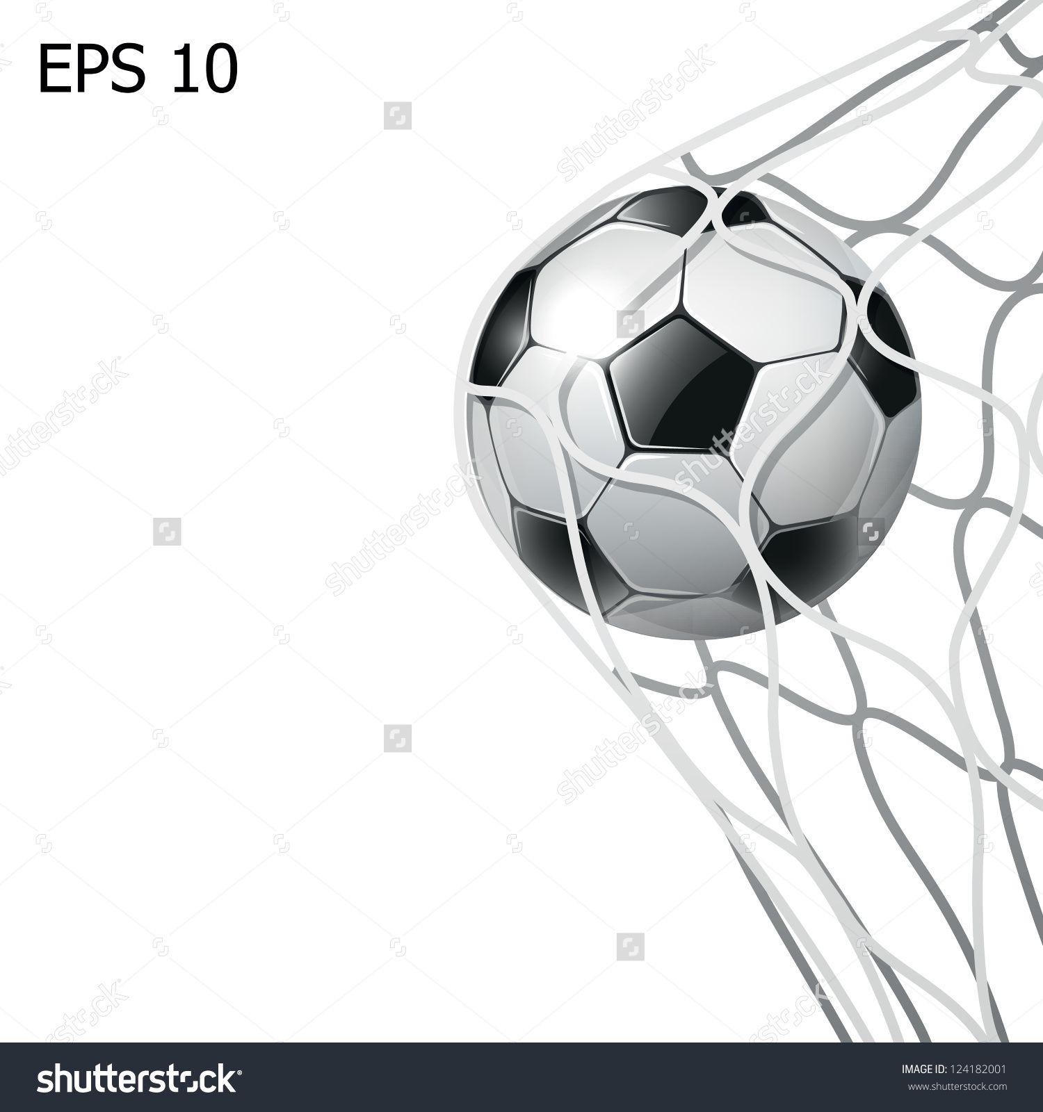 Isolated Soccer Ball In The Goal Net Eps10 Illustration Esportes Futebol