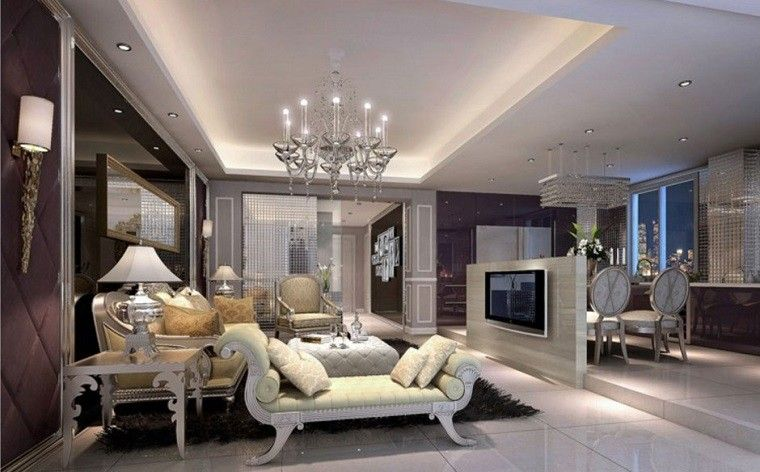 Salones de lujo - veinticinco ideas para decorar con estilo Lujos - salones de lujo