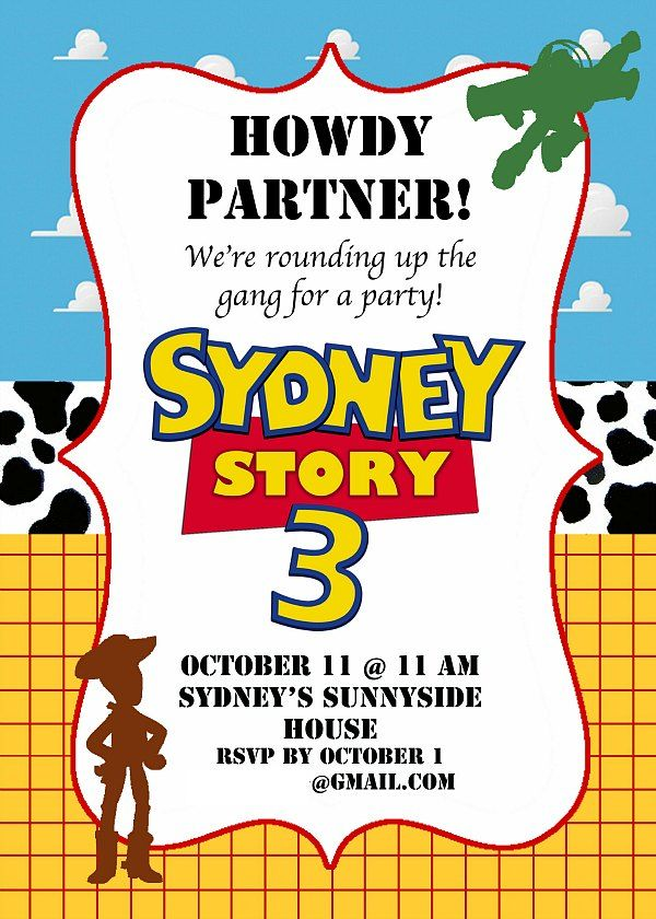 Toy Story Birthday Party Ideas | Party invitations, Toy and Birthdays