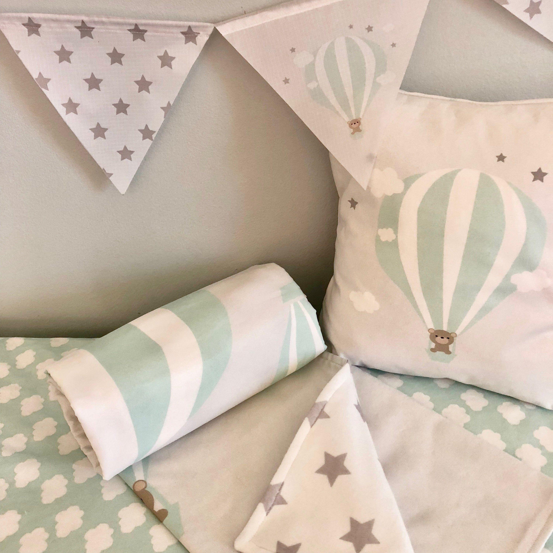 Hot air balloon nursery beddingpersonalized nursery beddingcrib