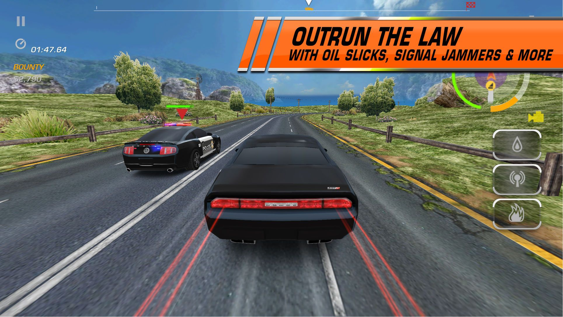 Need For Speeda 20hot Pursuit Racing Games Action Ios Signal Jammers Oil Slick Hot