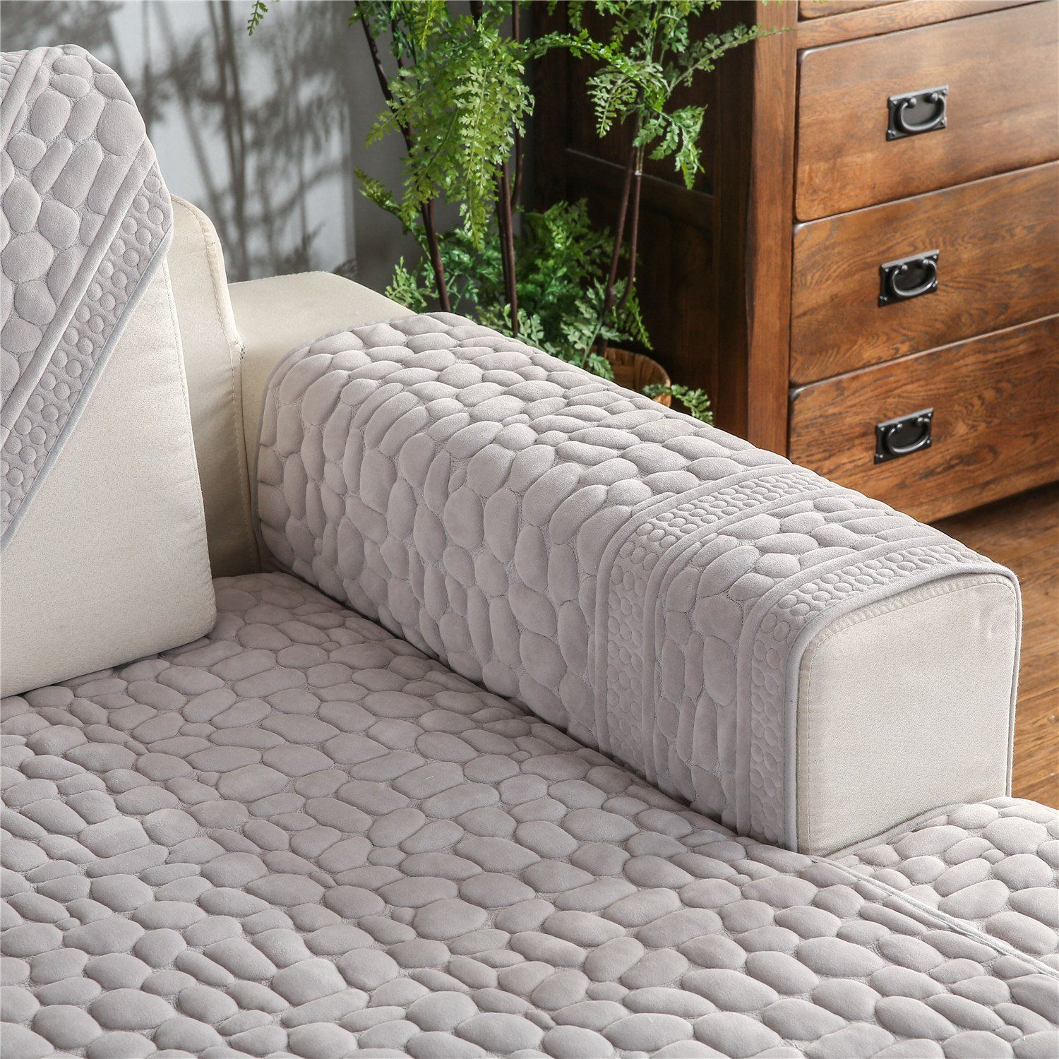 OstepDecor Quilted Furniture Protector and Couch Slipcover