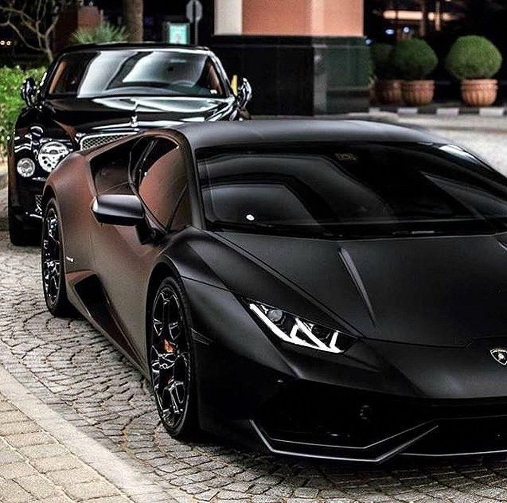 Dream Cars Lamborghini Matte Black 32 #dreamcars