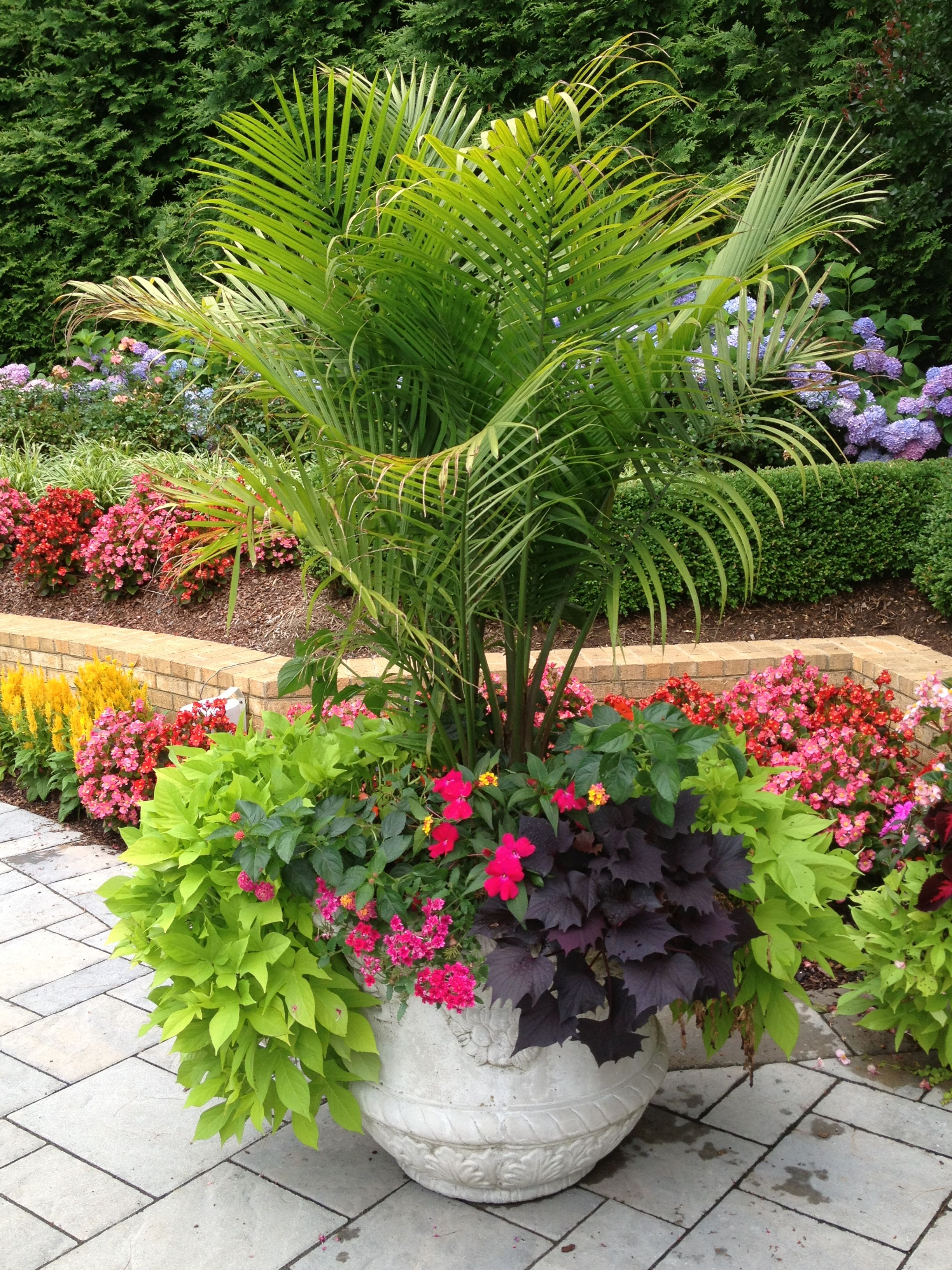 Sometimes a large planter that is dramatic is all you need for Large flower garden ideas