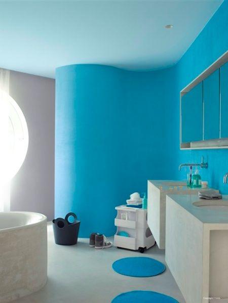 Id e de d co fluo bleu avec la peinture levis levis for Deco cuisine levis
