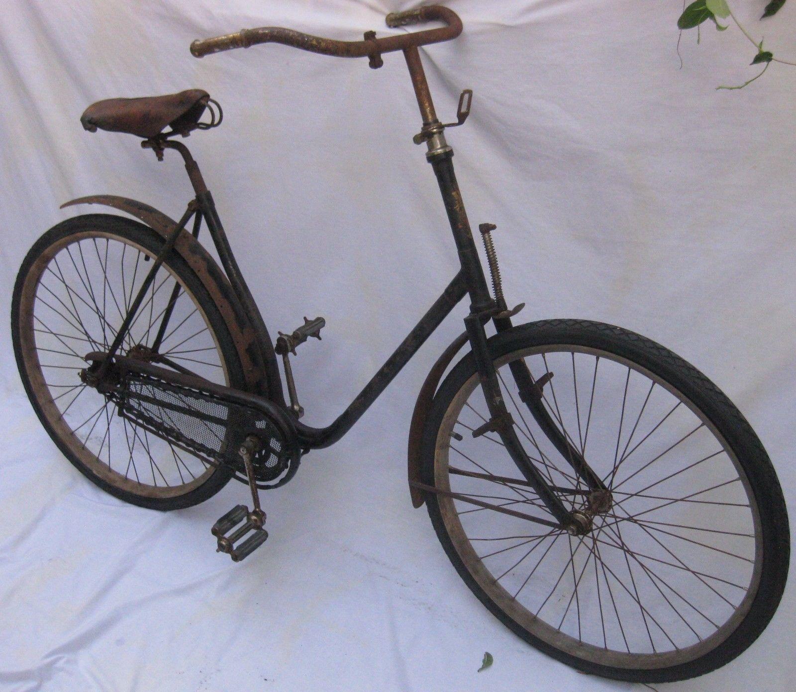 Antik Holz Rad Fahrrad 1893 Featherstone Road Queen Alle Original