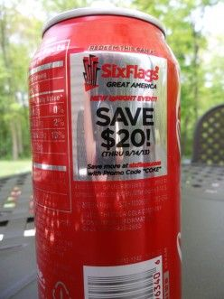 10 Ways To Get A Six Flags Ticket Discount Six Flags Coke Cans Ticket