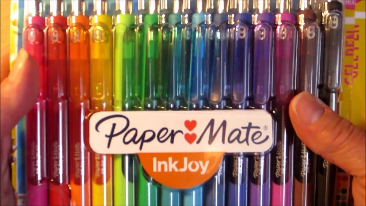 Paper Mate Ink Joy Gel Pens Review and Demo - YouTube