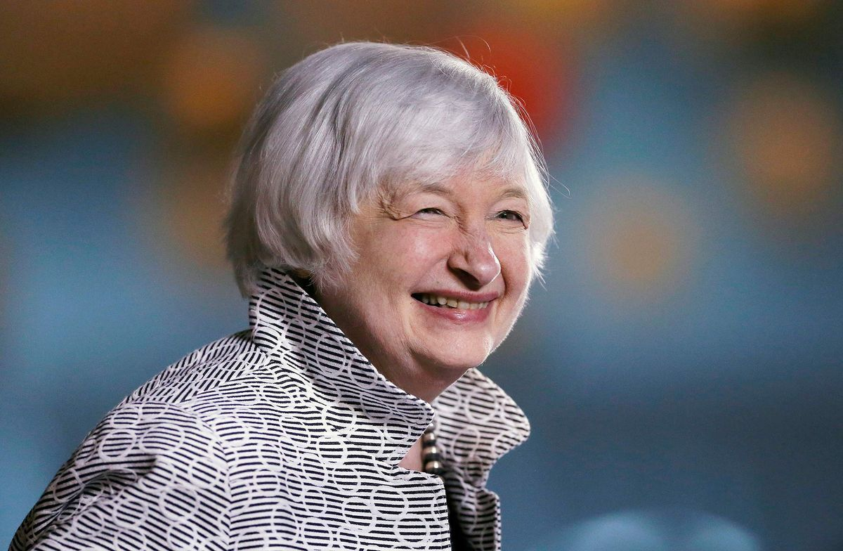 Janet Yellen The Chair Of The Federal Reserve Shared Her Thoughts On How Half Of Society Is Being Held Back At B Speech On Women Janet Yellen Boss Lady Style