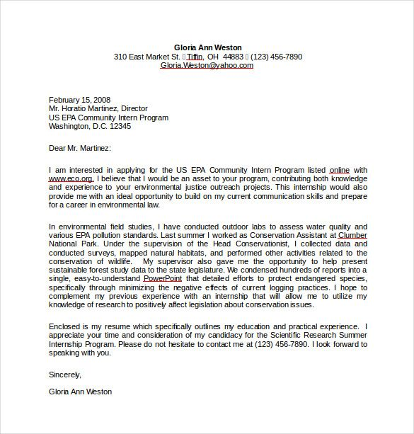 resume cover letter for internship word format free download - letters in pdf