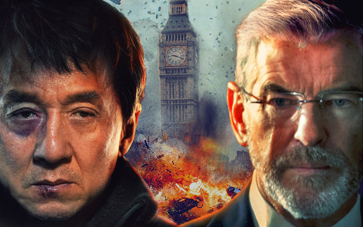 Download Wallpapers The Foreigner 2017 Jackie Chan Pierce Brosnan
