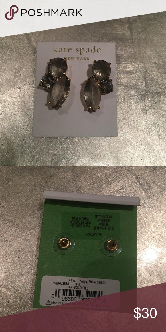 Kate Spade earrings Kate Spade smoky gray earrings. NEVER WORN, no damages. NWT Kate Spade Jewelry Earrings