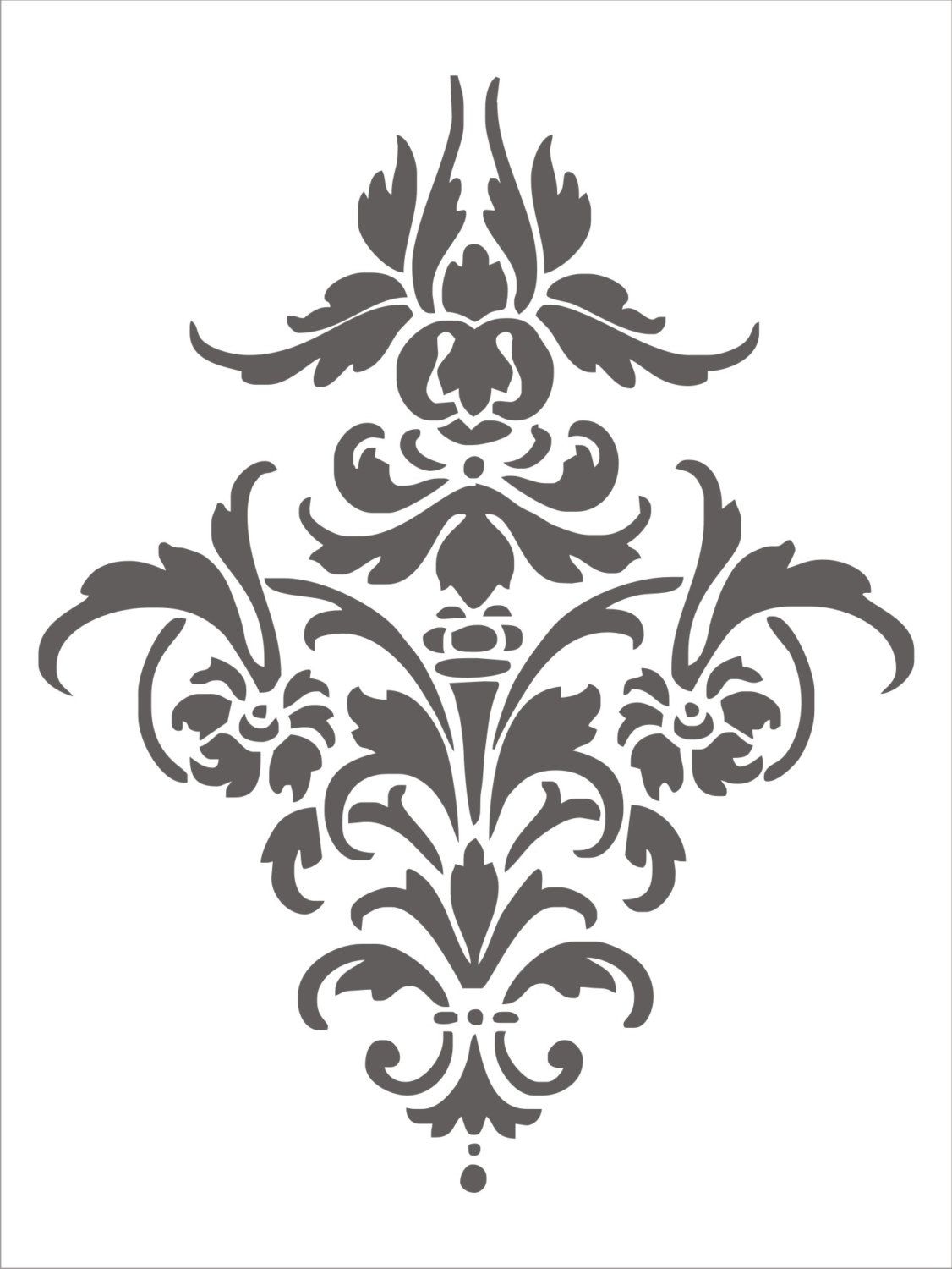 Arabezcos pinteres this is a perfect damask motif in stencil format amipublicfo Image collections