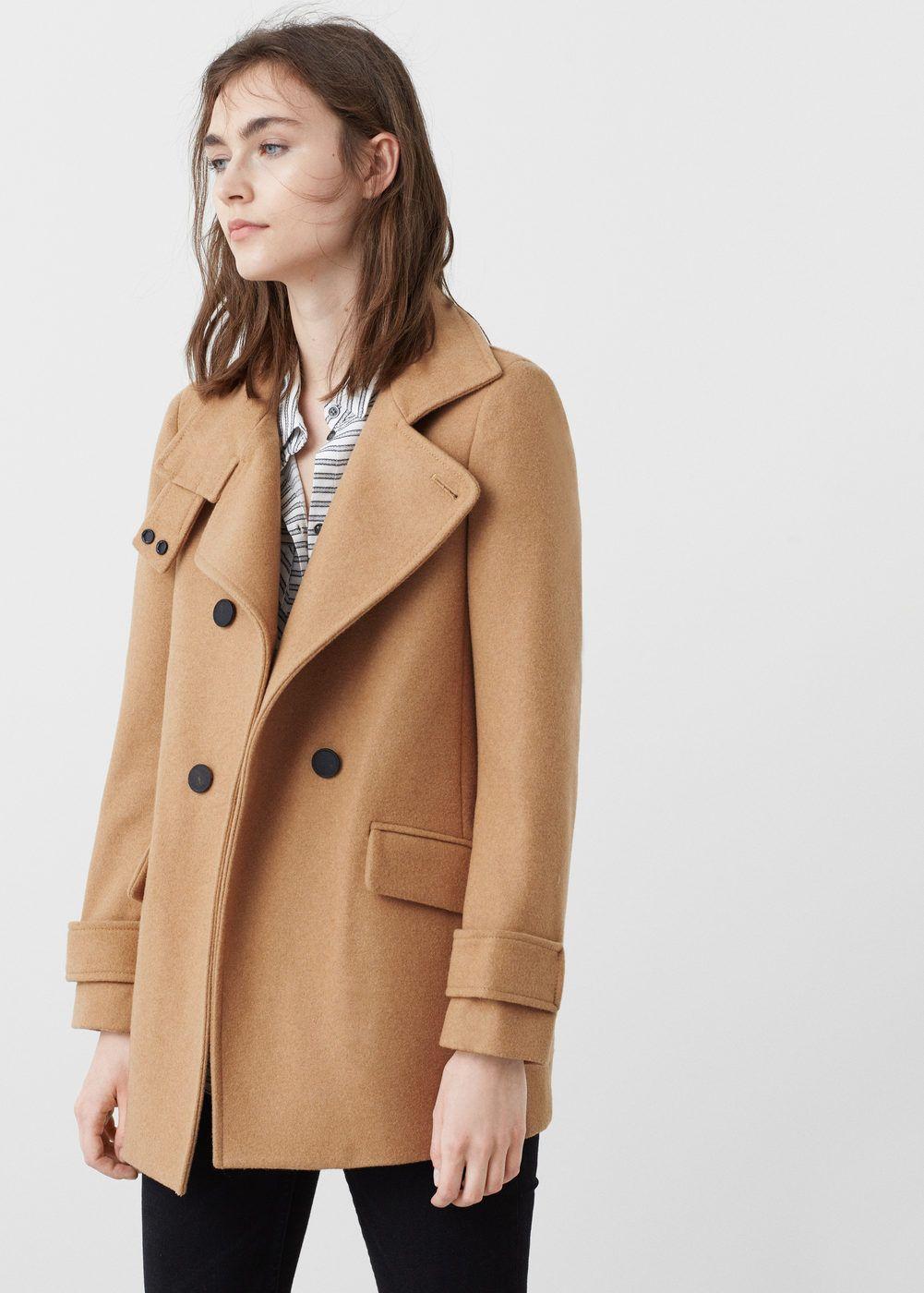 Zweireihiger mantel aus woll mix Damen | Mäntel frauen