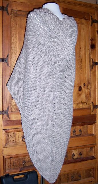 Ravelry: Hooded Eco-Wool Wrap pattern by Cathy Eisemann - Caffie Crafts, free in Cascade Eco