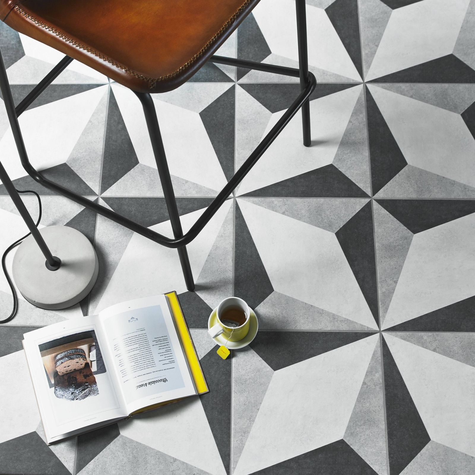 This henry matt grey square ceramic tile can be used to create two this henry matt grey square ceramic tile can be used to create two dramatic floor designs dailygadgetfo Images