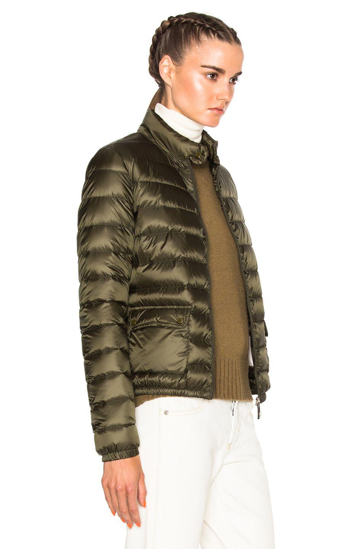 Moncler Lans Polyamide Jacket in Olive  79823c4e9940c