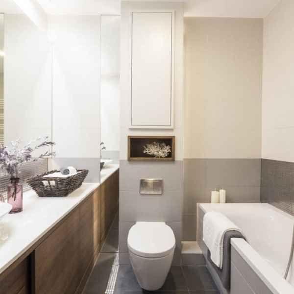 Große Fliesen für kleines Bad u2013 Tipps, Fliesenformate und Bilder - kleine badezimmer gestalten