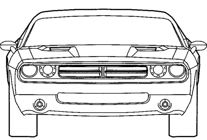 dodge challenger coloring page - Fast Furious Coloring Pages