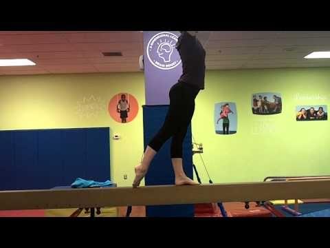 Usag Compulsory Level 1 Beam Routine Youtube Gymnastics Skills Gymnastics Beam Gymnastics Training