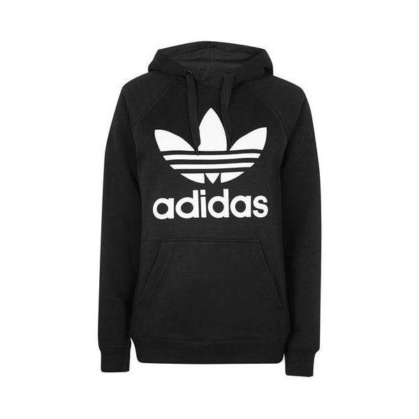 NEW Adidas Originals Womens Trefoil Logo Hooded Sweatshirt