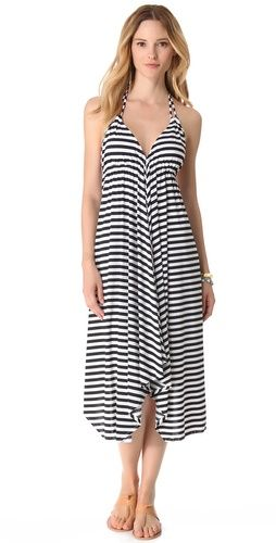 <3 this stripe cover up dress
