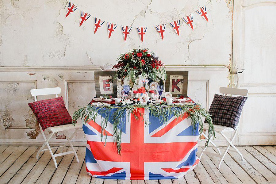 украшения стола англия фото этого брянская находилась