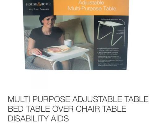 #Multi #purpose adjustable table bed table over chair table #disability aids,  View more on the LINK: http://www.zeppy.io/product/gb/2/381243640788/