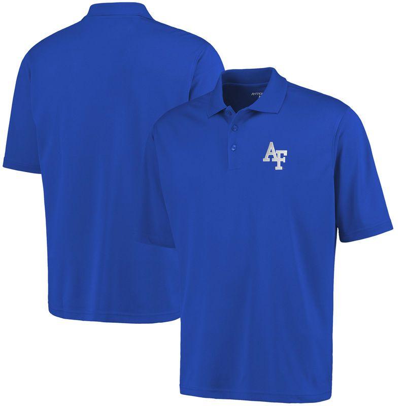 Air Force Falcons Antigua Logo Grande Pique Polo – Royal Blue