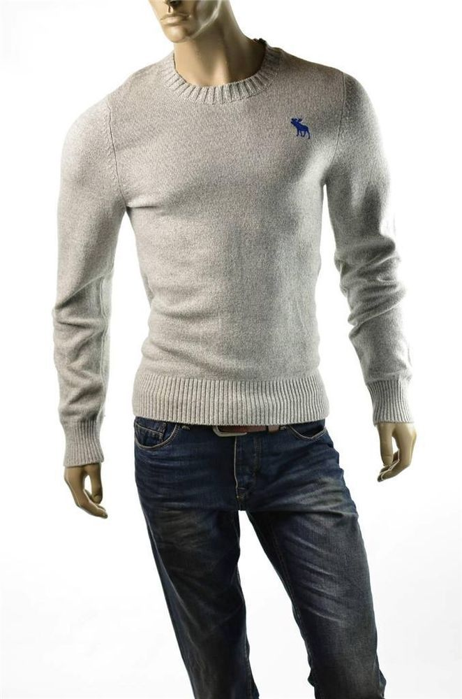 b5de59c2 #Abercrombie Fitch #Sweater Mens A & F Moose Logo NEW V Neck Pullover sz XL