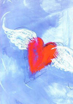 Hearts With Wings Heart Painting Painting Painting For