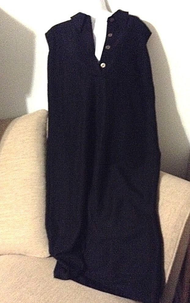 Cj Banks Plus Size 1X Dress Black Button Collar Neck ...